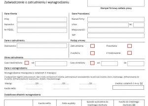 kredyt hipoteczny zaświadczenie